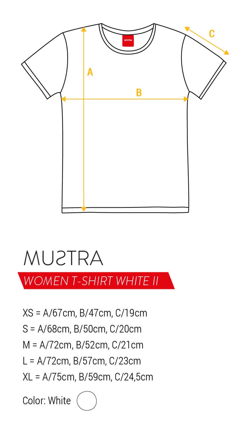 MUSTRA Women T-Shirts White II size guides